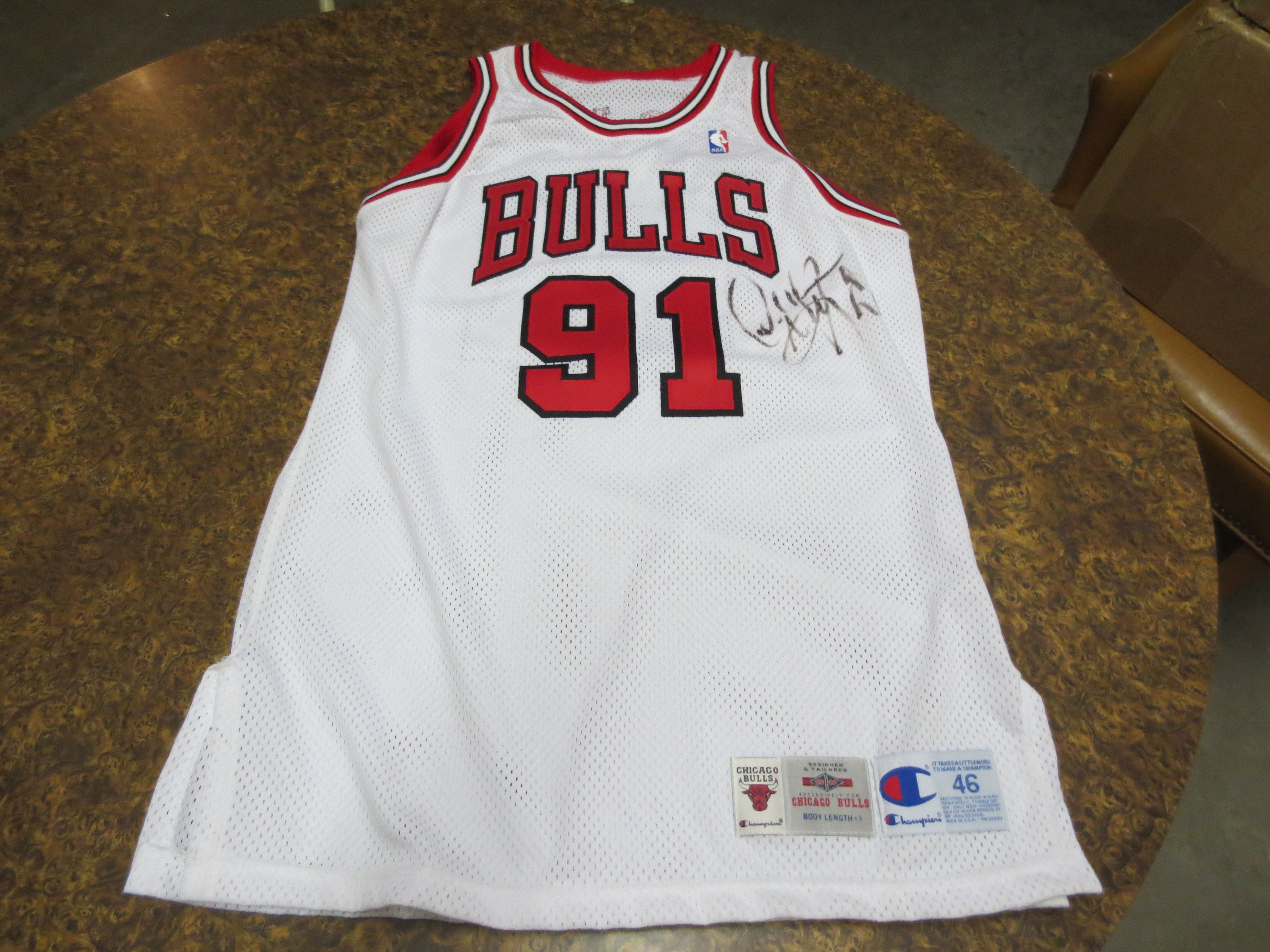 brand new 99eb7 940c6 Lot Detail - 1995-96 Dennis Rodman Chicago Bulls Game Used ...