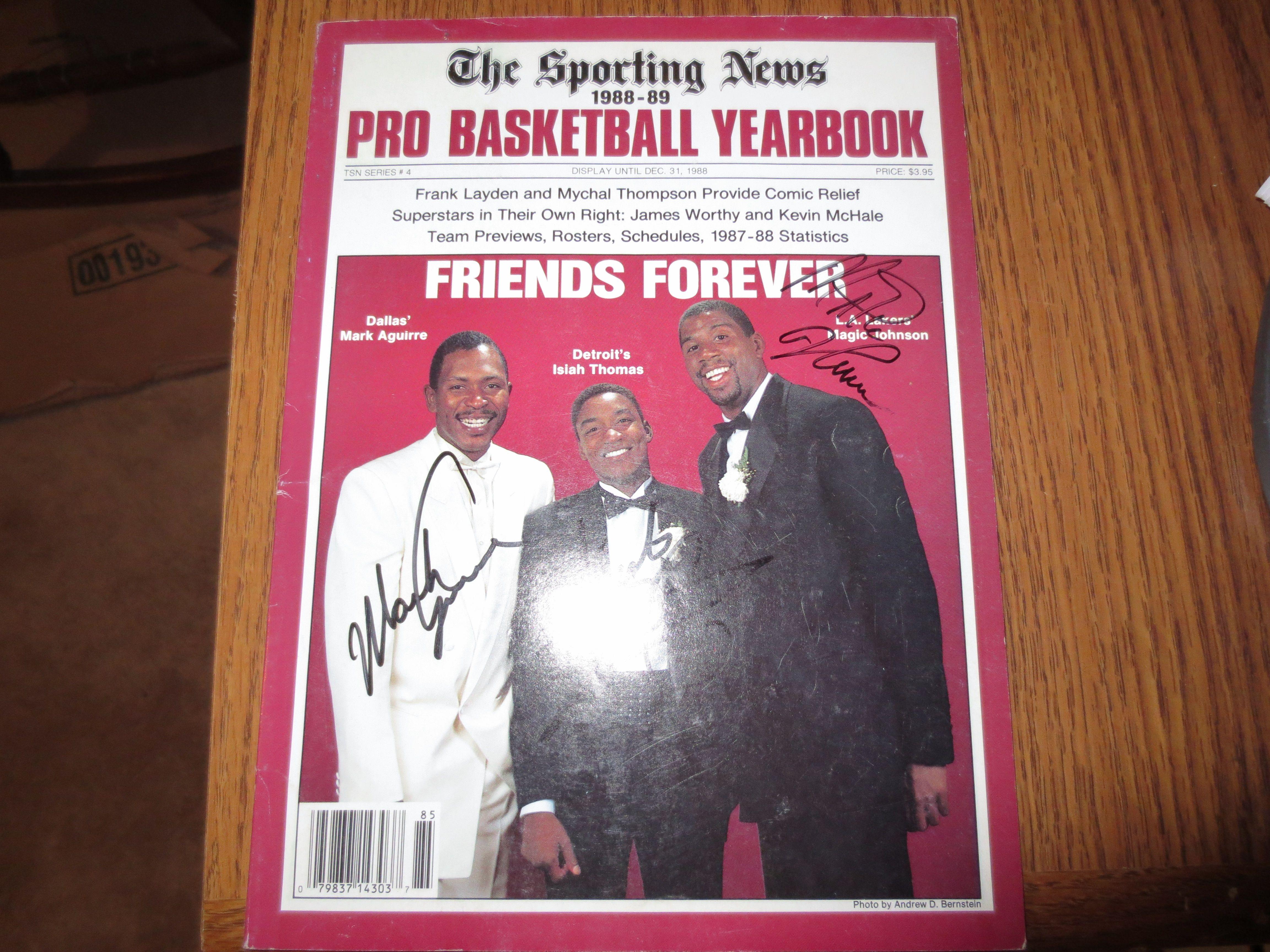 Lot Detail Autographs of Magic Johnson Isiah Thomas and Mark