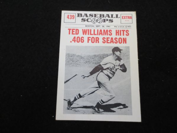 Lot Detail 1961 Nu Card Baseball Scoops Ted Williams Hits