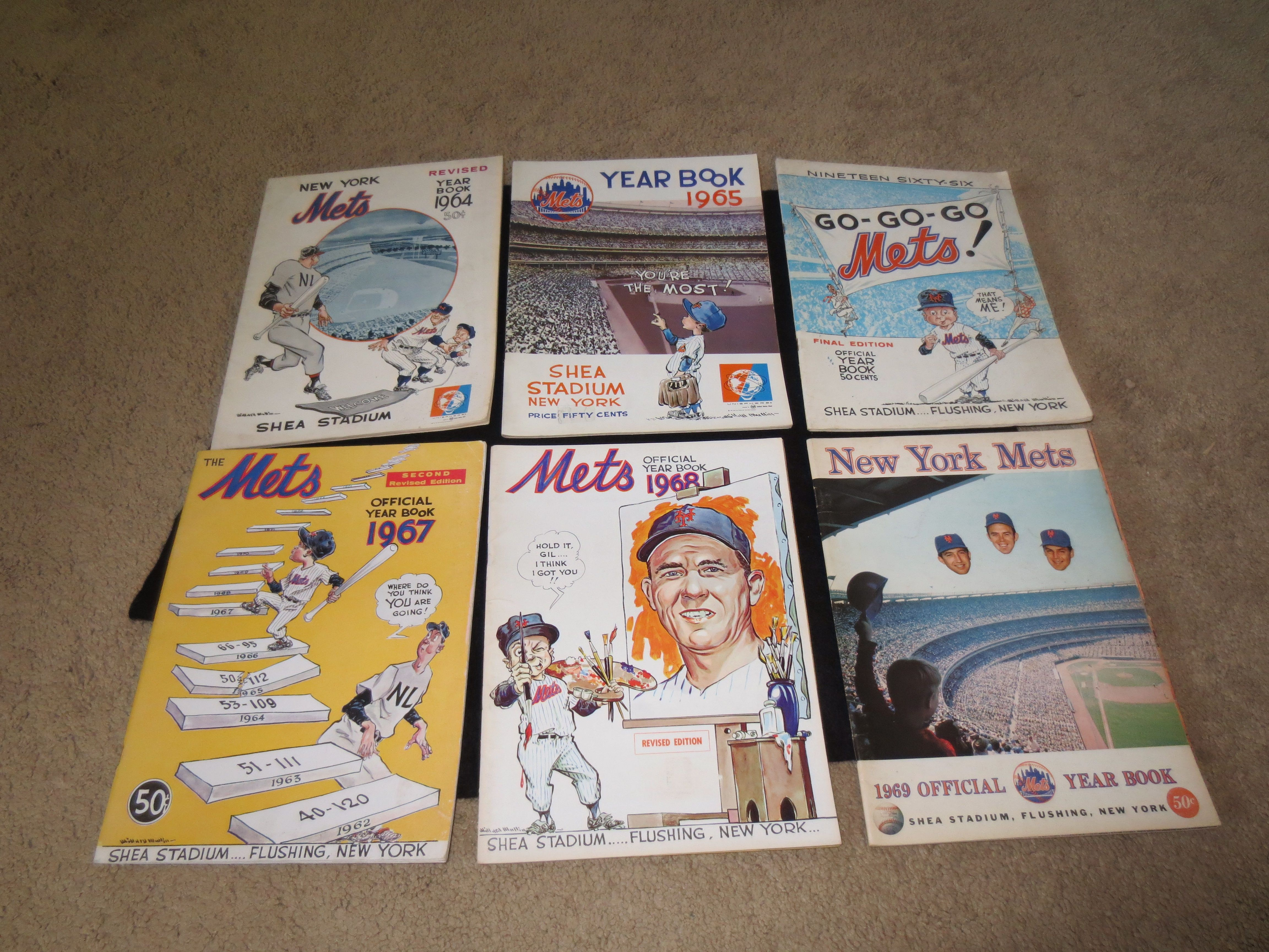 Lot Detail - New York Mets Yearbooks: 1964 revised, 65, 66