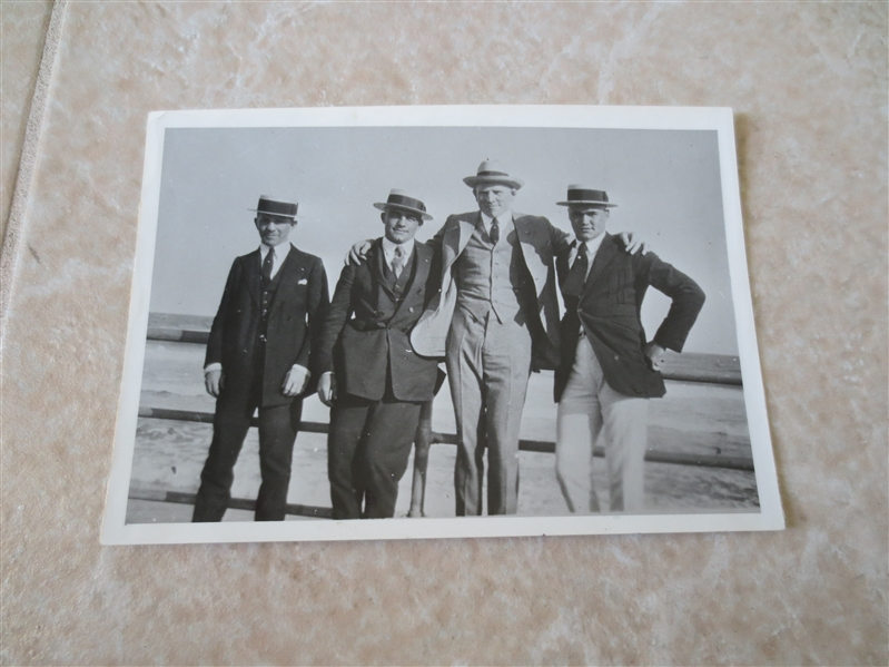 1927 Boxing Photo Teddy Hayes, Leo Hou, Martin Burke, Jack Renault  Atlantic City, NJ