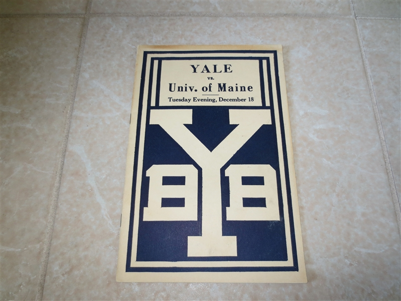 1923 University of Maine at Yale University basketball program