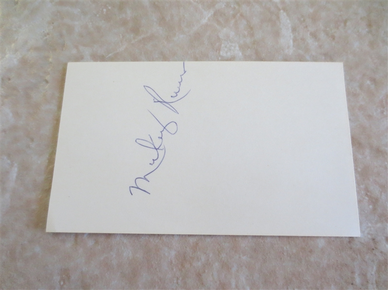 Autographed Mickey Rivers California Angels New York Yankees 3 x 5