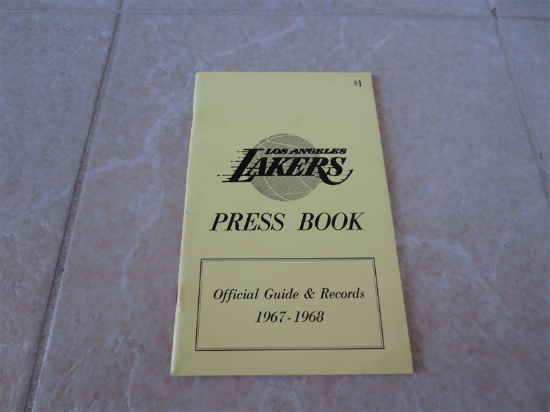 1967-68 Los Angeles Lakers media guide  Jerry West, Elgin Baylor