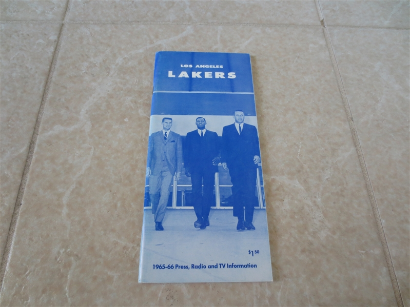 1965-66 Los Angeles Lakers media guide  Elgin Baylor and Jerry West
