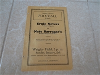 1932 Ernie Nevers National Collegiates vs. Nate Barragars Southern California All Stars football program