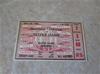 1939 USC at Notre Dame football ticket stub