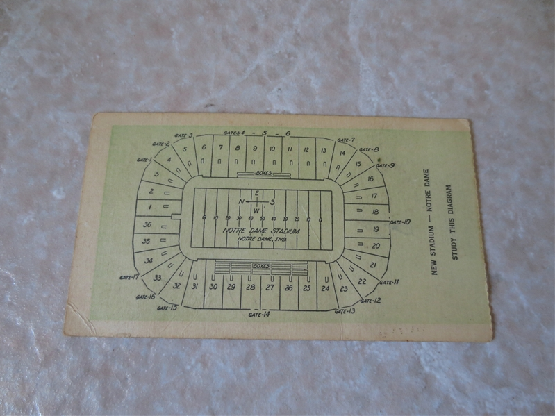 1931 USC at Notre Dame football ticket stub