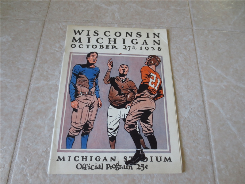 1928 Wisconsin at Michigan football program