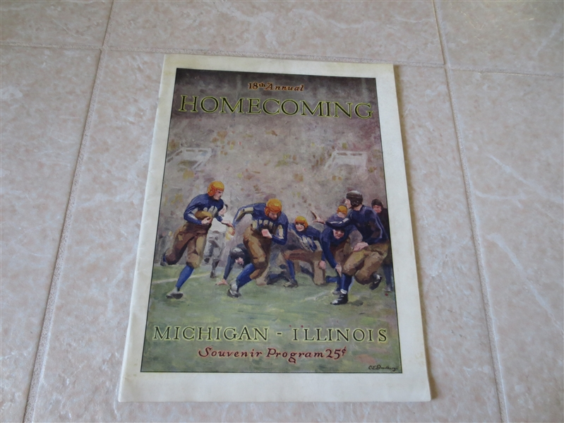 1927 Michigan at Illinois football program  18th Annual Homecoming  Illinois wins