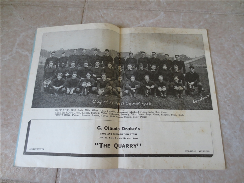 1923 Quantico Marines at Michigan Unbeaten season for Michigan!  RARE!