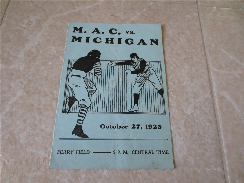 1923 M.A.C. Michigan State at Michigan football program