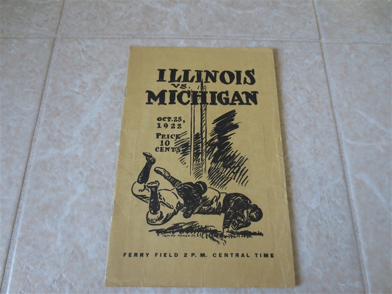 1922 Illinois at Michigan college football program Michigan wins 24-0 and goes unbeaten