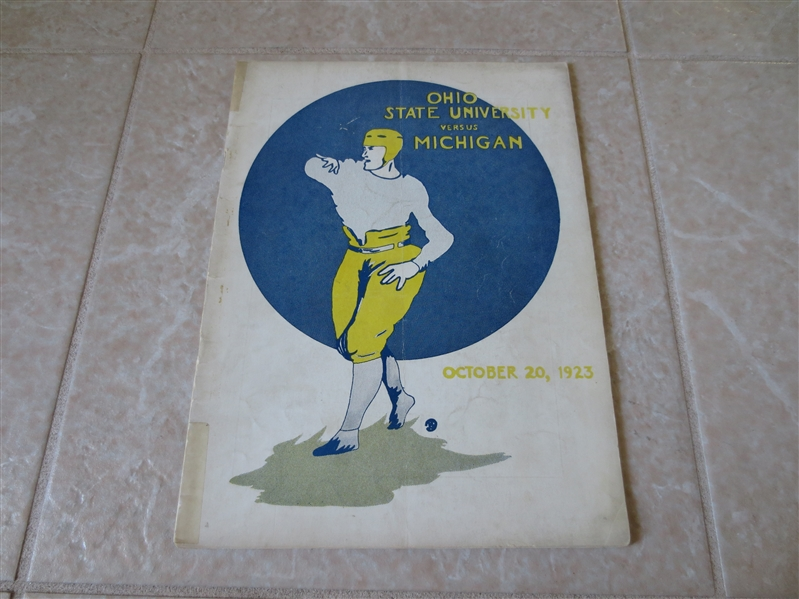 1923 Ohio State at Michigan football program Michigan wins 23-0 and goes undefeated  RARE