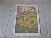 1925 Michigan at Illinois football program with Red Grange
