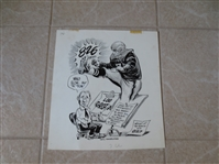"Original Art from The Sporting News Lou Groza Hall of Famer  13"" x 11.5"""