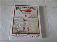 2014 Robert Edward Auction Spring Catalog 1756 lots  Red Stockings cover Great reference!