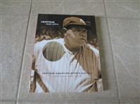 October 2006 Heritage Signature Sports Auction catalog Babe Ruth cover 954 lots