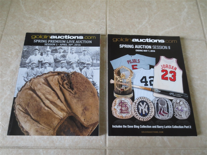 Spring 2016 Goldin Sports Auction Catalogs Session 1 and 2