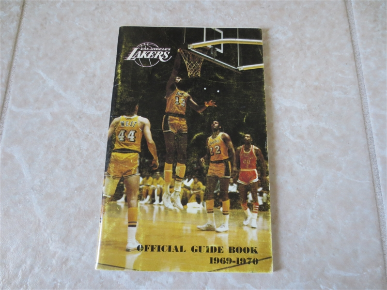 1969-70 Los Angeles Lakers media guide  Wilt Chamberlain, Jerry West, Elgin Baylor