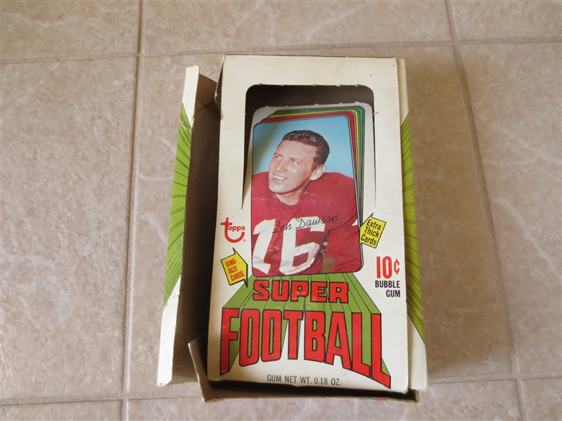 1970 Topps Super Football empty display box  TOUGH!