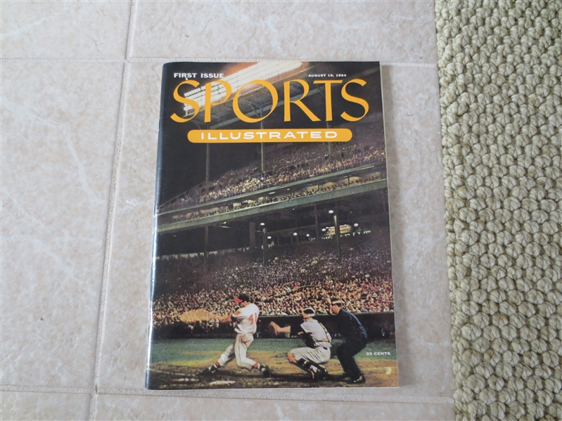 Issue #1 Sports Illustrated Magazine with cards insert   Beautiful condition!