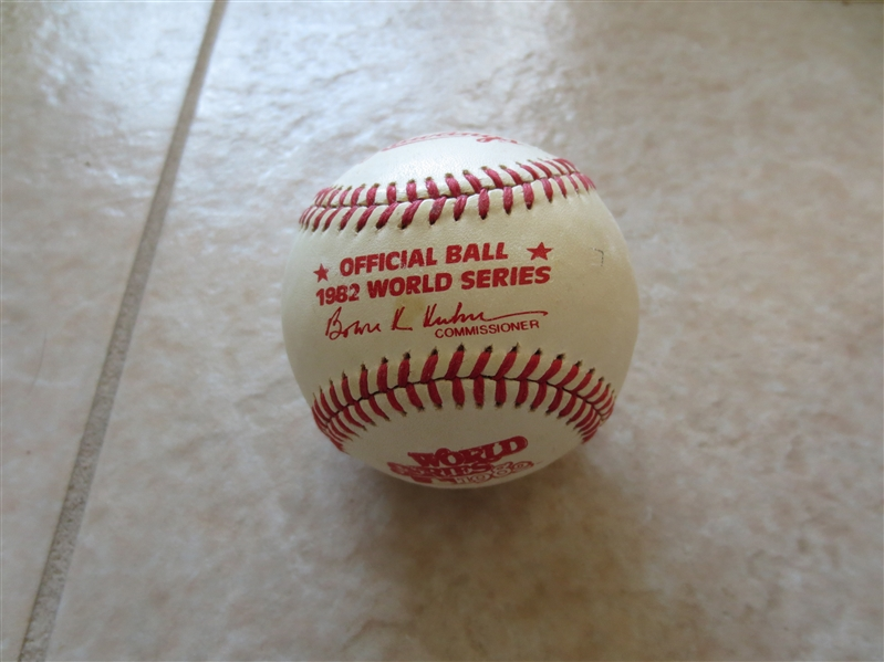 1982 Official World Series Baseball Bowie Kuhn Commissioner Rawlings