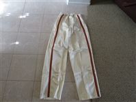 Late 1960s Baltimore Bullets game used basketball warm up pants