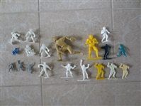 Large assortment of Circa 1950 baseball and football figurines