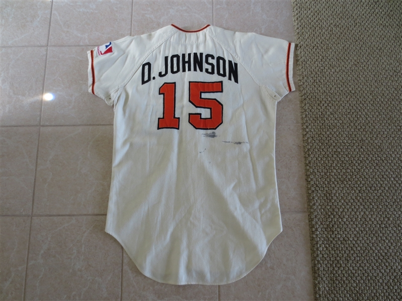 1969 Davey Johnson Baltimore Orioles Game Used Jersey #15  Used vs. Mets in World Series?