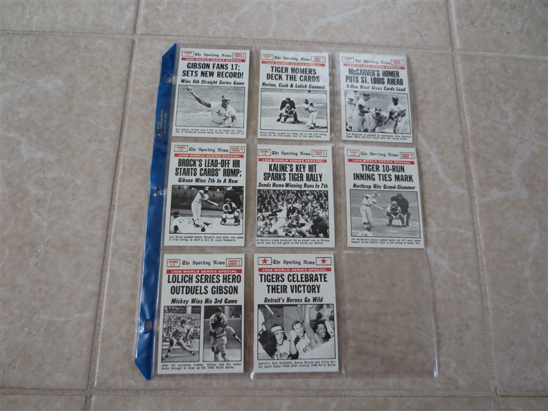1969 Topps World Series baseball card subset #162-169 FROM VENDING!  Send to PSA
