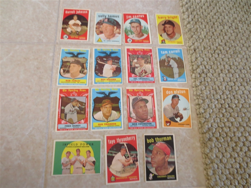 (35) 1959 Topps Baseball Cards  ALL HIGH #'s from 507-572  Nice shape!