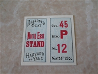 1900 Harvard vs. Yale football ticket   WOW!