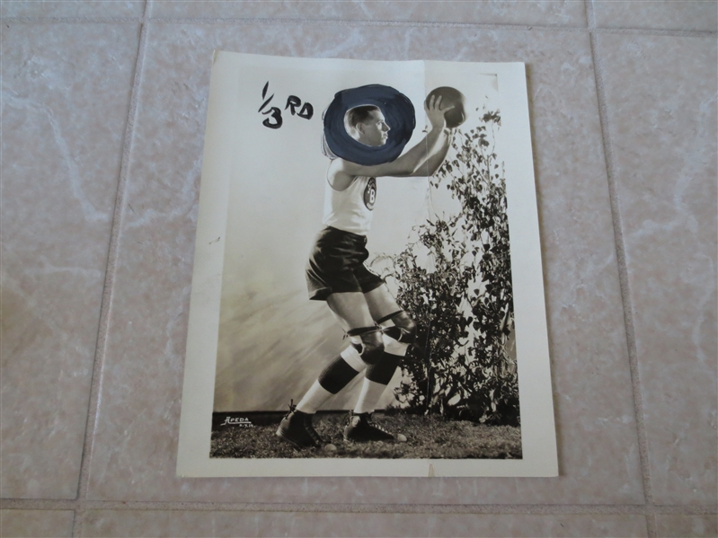 1926 American Basketball League Type 1 Wire Photo Joe Wallace Brooklyn Arcadians 8 x 10 RARE