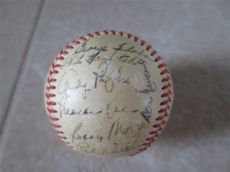 1952 Brooklyn Dodgers Autographed Baseball  25 signatures Jackie Robinson, Pee Wee Reese, Don Newcombe, Gil Hodges, etc.