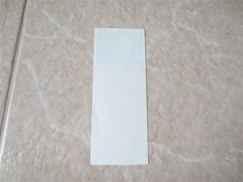 1969 Bernard L. Carnevale Hall of Fame Bookmark   RARE!