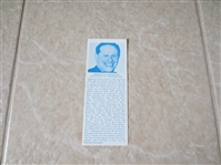 1970 Abe Saperstein Hall of Fame bookmark  RAREST OF THE RARE!  Super condition!