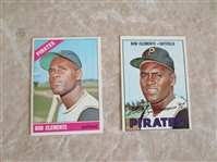1966 and 1967 Topps Bob Clemente baseball cards  Beautiful condition.