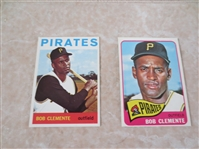 1964 and 1965 Topps Bob Clemente baseball cards  Beautiful condition.