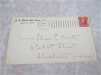1904 University of Andover, MA Basket Ball Advertising Envelope  NEAT!