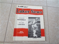 1957-58 Syracuse Nats at Minneapolis Lakers basketball program Dolph Schayes Vern Mikkelsen