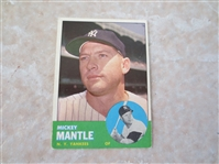 1963 Topps Mickey Mantle #200 baseball card in very nice shape