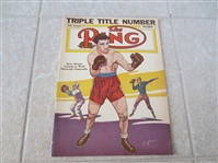 November 1951 The Ring Magazine Rocky Marciano cover, his first  with Schaar Illustration