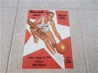 1st NBA Game Played on West Coast program Lakers vs. Celtics Bill Russell  RARE!