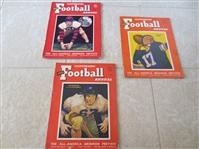(3) Football Illustrated Annuals:  1948, 50, 51 with attractive covers