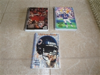 1984, 90, 91, 94 Chicago Bears football media guides