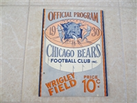 1930 Green Bay Packers at Chicago Bears football program  Grange, Nagurski  NEAT!