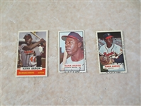 1960, 64, 67 Hank Aaron Bazooka Baseball Cards   Very nice condition!