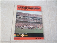 1967 AFL Championship Football Program Houston Oilers at Oakland Raiders