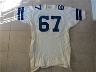 1960s Rayfield Wright Dallas Cowboys Game Used Jersey #67 by Southland Size 52XL